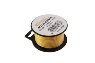Connect 36963 Mini Reel Automotive Cable 8 Amp Yellow 6m